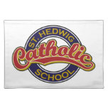 St. Hedwig Catholic School Red on Blue Place Mats