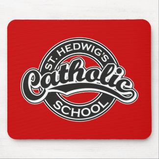 St Hedwig s Catholic School Black and White Mousepad