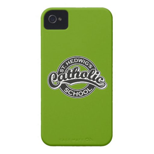 St. Hedwig's Catholic School Black and White Case-Mate iPhone 4 Cases