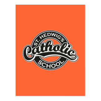 St. Hedwig's Catholic School Black and White Postcard