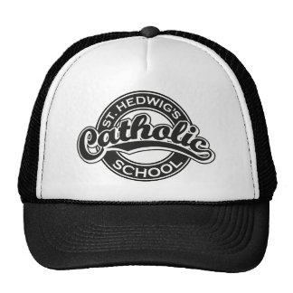 St. Hedwig's Catholic School Black and White Trucker Hat