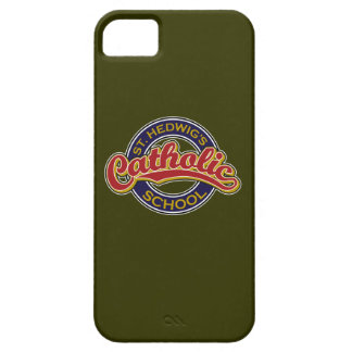 St. Hedwig's Catholic School Red on Blue iPhone 5 Cover