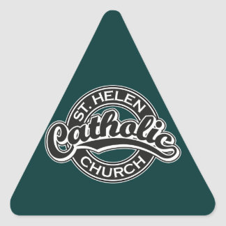 St. Helen Catholic Church Black and White Triangle Sticker