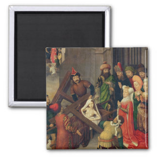 St. Helena and the Miracle of the True Cross 2 Inch Square Magnet