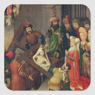 St. Helena and the Miracle of the True Cross Square Sticker
