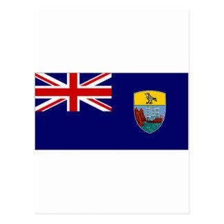 St Helena Dependencies National Flag Postcard