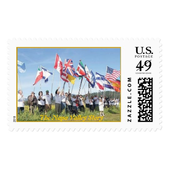 St. Helena Flags for The Napa Valley Story Postage