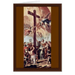 St. Helena Found The Holy Cross Draft By Ricci Greeting Card