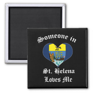 St. Helena 2 Inch Square Magnet