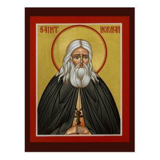 St. Herman de la tarjeta del rezo de Alaska Tarjeta Postal