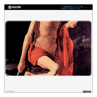 "St. Hieronymous by Georges de La Tour Decal For 11"" MacBook Air"