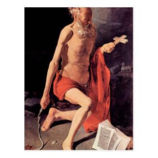 St. Hieronymous by Georges de La Tour Postcard