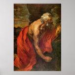 St Hieronymus by Antoon van Dyck Print