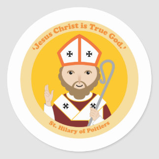 St. Hilary of Poitiers Classic Round Sticker