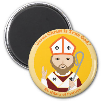 St. Hilary of Poitiers 2 Inch Round Magnet