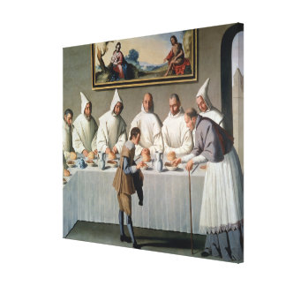 St. Hugh of Cluny (1024-1109) in the Refectory of Canvas Print