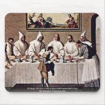 St Hugo de Grenoble en el refectorio cartujo Tapete De Raton