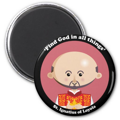 St Ignatius de Loyola Imán Redondo 5 Cm