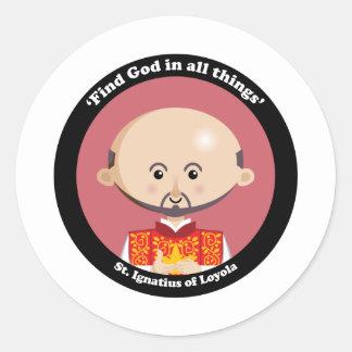 St Ignatius de Loyola Pegatina Redonda