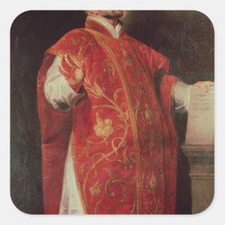 St Ignatius del fundador de Loyola de las jesuitas Pegatina Cuadradas