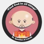 St. Ignatius of Loyola Classic Round Sticker