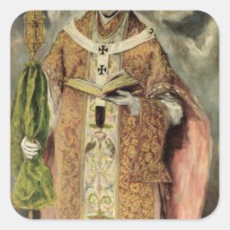 St. Ildefonso 1605-1610 Pegatina Cuadrada