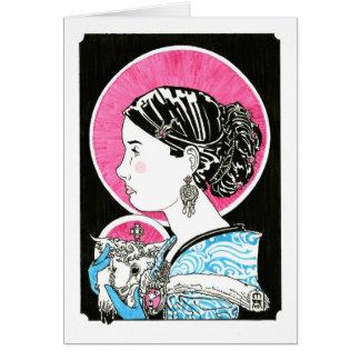 St. Inés de Roma Notecard Tarjeta Pequeña