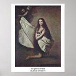 St. Inés en la prisión de Jusepe De Ribera Impresiones