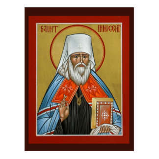 St. Innocent de la tarjeta del rezo de Alaska Tarjetas Postales