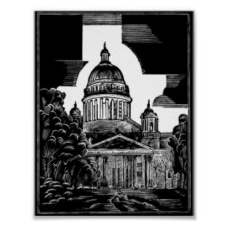 St Isaac's Cathedral ST PETERSBURG Poster
