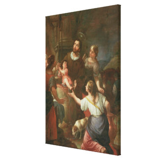 St. Isidore and the Miracle at the Well Canvas Print