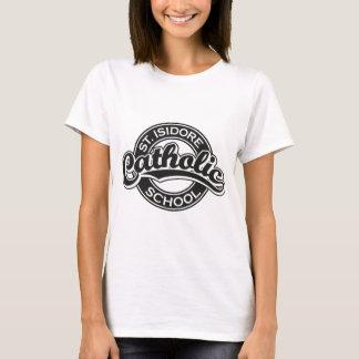 St. Isidore Catholic School Black and White T-Shirt