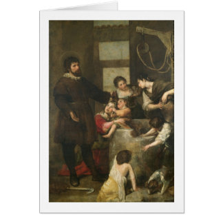 St. Isidore saves a child that had fallen in a wel Greeting Cards