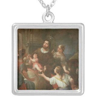 St. Isidoro y el milagro en el pozo Colgante Cuadrado