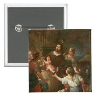 St. Isidoro y el milagro en el pozo Pin Cuadrada 5 Cm