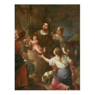 St. Isidoro y el milagro en el pozo Tarjeta Postal