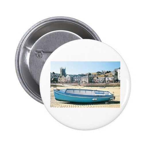 St Ives Boat 2 Inch Round Button