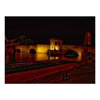 St. Ives Bridge at Night Print