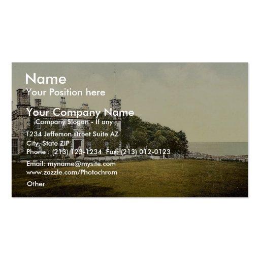 St Ives, castillo de Tregenna, clase de Cornualles Plantilla De Tarjeta De Negocio