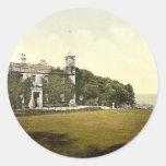 St Ives, castillo de Tregenna, clase de Pegatina Redonda