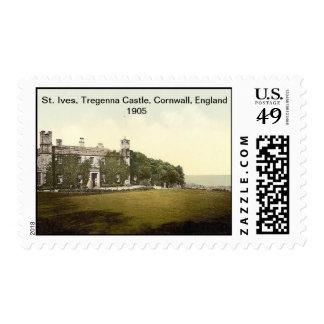 St Ives, castillo de Tregenna, Cornualles, Timbre Postal
