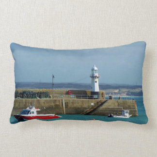 St Ives Harbour Lighthouse Reversible Cushion Throw Pillow