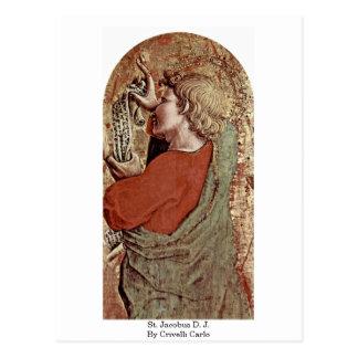 St. Jacobus D. J. By Crivelli Carlo Postcard