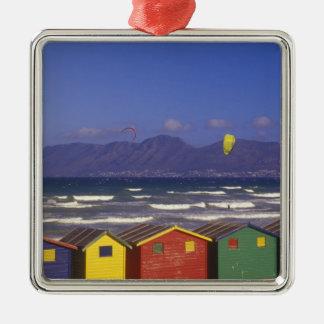 St. James Bay Bathing Boxes, near Capetown, 2 Metal Ornament