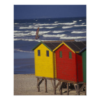St. James Bay Bathing Boxes, near Capetown, 3 Poster