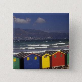 St. James Bay Bathing Boxes, near Capetown, Pinback Button