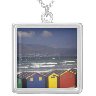 St. James Bay Bathing Boxes, near Capetown, Silver Plated Necklace