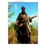 St James Catholic Church Statue Greeting Card