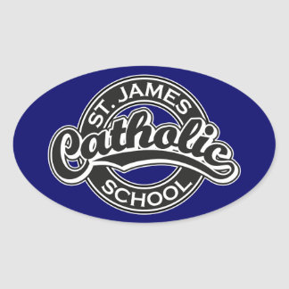 St. James Catholic School Black and White Stickers