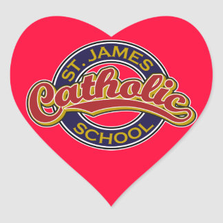 St. James Catholic School Red on Blue Stickers
